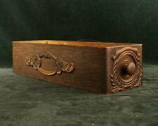 vintage antique ornate wooden singer treadle sewing machine cabinet drawer