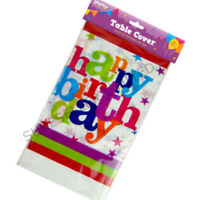 Happy Birthday Tablecloth Disposable Plastic Party Table Cover Cloth Kids Partie