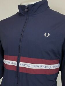 Fred Perry   Sports Taped Shell Jacket Large (Navy) 90s Casuals Terraces Scooter