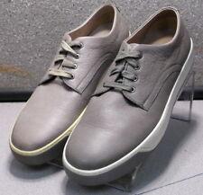 252019X DF30 Men's Shoes 8.5 M Gray Leather Lace Up Johnston & Murphy