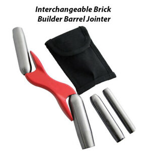 Brick Jointer 4 Size Interchangeable Sizes Bricklayer Pointing Tool