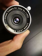[RARE EXCELLENT+++++] CANON 25MM F3.5 MF LENS leica l39 mount