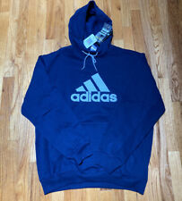 adidas Navy Blue Hoodie Sweatshirt Embroidered New With Tags 2006 Men's Size XL