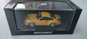 1/43 minichamps porsche 911 turbo 1990 jaune  edition limitée