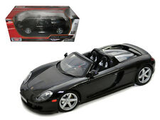 Porsche Carrera GT Black with Black Interior 1:18 Diecast Model Car - 73163bk/bk