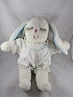 "Ms Noah White Rabbit Plush 18"" in Outfit Clothes Stuffed Animal"