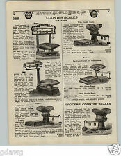 1924 PAPER AD Howe Store Counter Scale Reliance Chicago Grocers' Platform