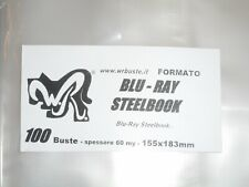 "100 BUSTE WR ""BLU-RAY STEELBOOK"" 155x183 mm x Blu-Ray Steelbook"