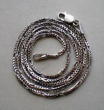 European Italy Designer 14K 585 White Gold Diamond Cut Necklace Chain 14kt 4.2 g