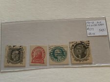 1910-18 USA Parcel Postal Card Stamp Lot FA81