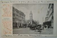 Town Hall & Collins Street Melbourne Collectable Vintage Antiquarian Postcard.