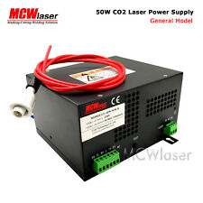 MCWlaser 50W CO2 Laser Power Supply For Engraver Cutting 220V