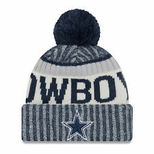 Dallas Cowboys NFL FOOTBALL new era Sideline Beanie TAGLIA UNICA INVERNO BERRETTO