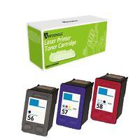 Remanufactured Inkjet Cartridge C6656 + C6657 + C6658 For HP 56 57 58 3550
