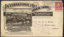 USA 1900 c. 2c Red International Horse Farm Illustrated Advertising Envelope