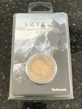 Skyrim limited edition coin, Bethesda limited to 9,995 worldwide new