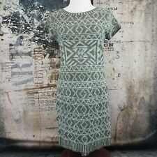 Women's M Made For Me To Look Amazing Light Sweater Knit Dress With Scarf Green