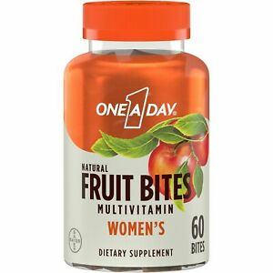 One A Day Women's Natural Fruit Bites, Multivitamins for Women, 60 Ct