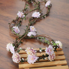 Damen Bridal Floral Hair Wreath Garland Flower Crown Headband Wedding Party