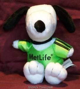 "Metlife Advertising Snoopy Peanuts Charlie Brown  Stuffed Plush 5""  EUC"