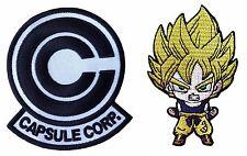 Dragon Ball Z Capsule Corp + Saiyan Goku Patch