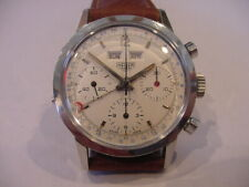 MINTY 1960's HEUER DATO 12 2547S CHRONOGRAPH 3 DATE 3 REGISTER SERVICED! AWESOME
