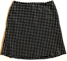 A Line Skirt Womens Size 16 Skirt Classic Pencil Straight Lined Polka Dot