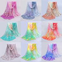 Hot Women's Fashion Long Scarves Soft Silk Wrap Lady Shawl Chiffon Scarf