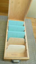 Karteikasten, Archiv, Aufbewahrung 50er, 60er, Holz Mid Century Design.