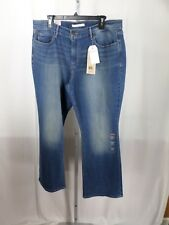 Levis 515 Size 16S/33 Boot Cut Jeans Misses Mid Rise Blue Denim JEANS NWT