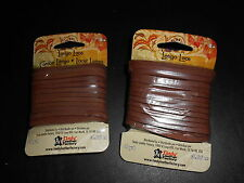 "(2) Medium Brown Tandy Leather Latigo Lace, 1/8th"" by 4 Yards, 12 Foot."