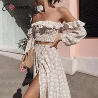 Long Off Shoulder Dress Floral Print Summer Dress