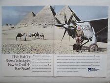 8/1990 PUB HAMILTON STANDARD LINDBERGH SPIRIT OF ST LOUIS PYRAMIDE EGYPTE AD