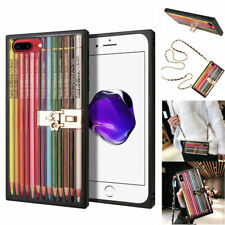 Pencil Rectangle Cover fr iPhone Xs Max X 8 7 6 Defender Holder Strap Armor Case