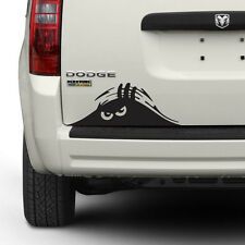 "(2x) 9"" Funny Peeking Monster Scary Eyes Car Vinyl Decal Sticker (Choose Color)"