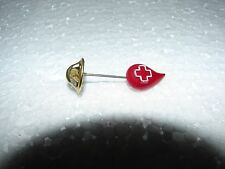 RED CROSS BLOOD BANK DONATION PIN - RED STICK PIN