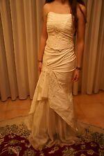 Vestito abito da sposa nuovo atelier italiano taglia 44 avorio seta Antonietta