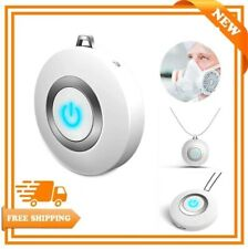 Wearable Necklace Air Purifier Mini USB Portable Negative Ion Generator Low Nois