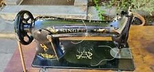 Working 1918 Singer 31-15, Sewing Machine On Treadle Stand, No Power Needed!