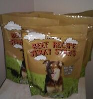 5 Packs Trader Joe's Beef Jerky Strips Treats Snacks Puppies And Dogs  6 oz.ea