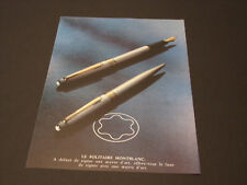 MONT BLANC  Années 1985's - 1990's  Advertising Vintage AD Pub Paper 1980 - 1990