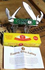 Beautiful Kissing Crane BOY SCOUT Folding Pocket Knife - Green Jigged Bone - NIB