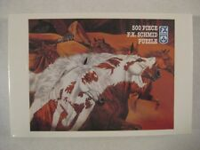 NIB FOUR WOLVES 500 Piece Puzzle 1995 HORSES F.X. SCHMID FX SEALED FREE SHIPPING
