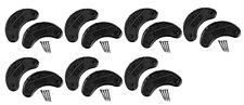 Traveler Mens Shoe Heel Plates Taps with Nails Black Plastic Medium 7 Pairs .