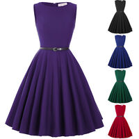 50's Vintage Style Audrey Hepburn Swing Full Circle Evening Party Banquet Dress