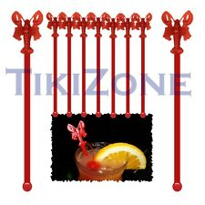 Red Lobster Cocktail Drink Stirrers / Swizzles (10) - Tiki Bar Supplies