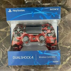 For PS4 Controller Wireless Sony Playstation 4 Double Vibration Camouflage red