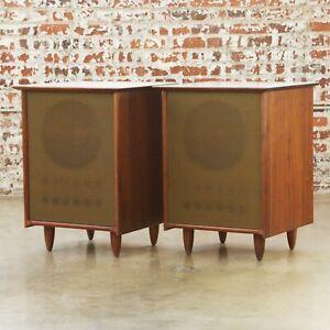 1964 Ace-Hi Prelude WH21 Vintage Home Speaker Cabinets Danish Mid Century Modern