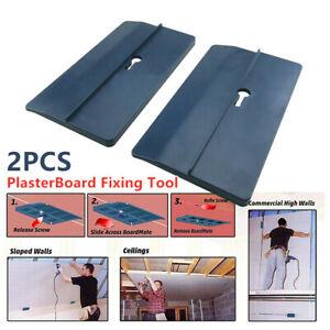 2X Drywall Installation Plasterboard Fitting Positioning Gypsum Fixed Board DIY