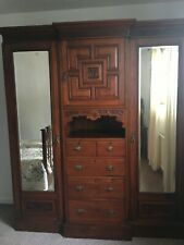 More details for waring and gillow edwardian inlaid bedroom furniture set with wash stand